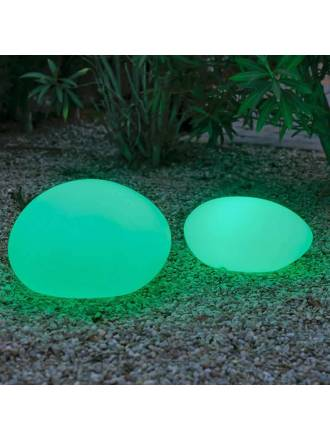 Lámpara suelo Petra Solar LED RGB IP65 exterior - Newgarden