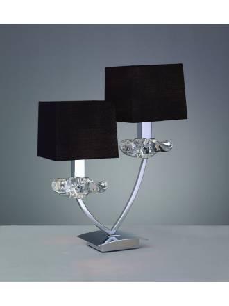 Mantra Akira table lamp 2L black shade