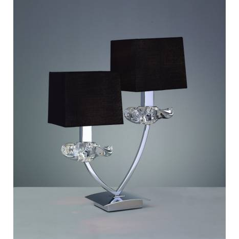 Mantra Akira table lamp 2L black shade