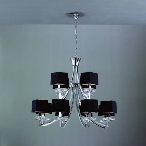 Mantra Akira ceiling lamp 12L black shade