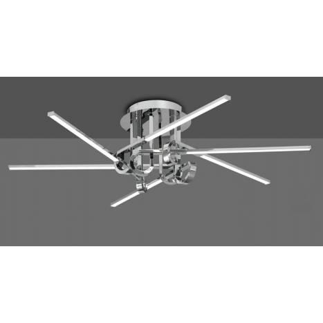 Lámpara de techo Cinto 42w cromo - Mantra