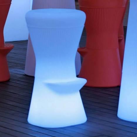 Taburete iluminado Corfu Solar LED RGB IP65 - Newgarden