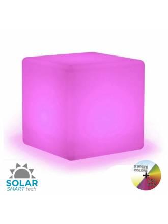 Lámpara Cuby Solar LED RGB IP65 exterior - Newgarden