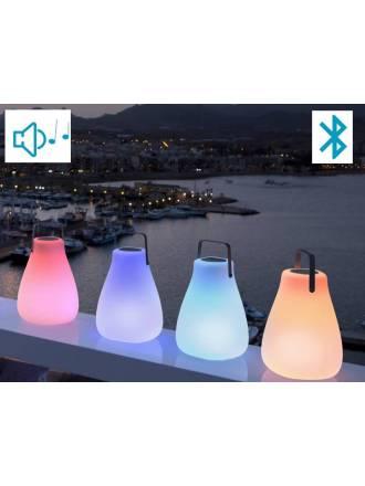 Lámpara + Altavoz Kurby Play LED RGB - Newgarden
