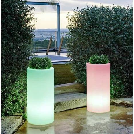Macetero Palma Solar LED RGB IP65 exterior - Newgarden