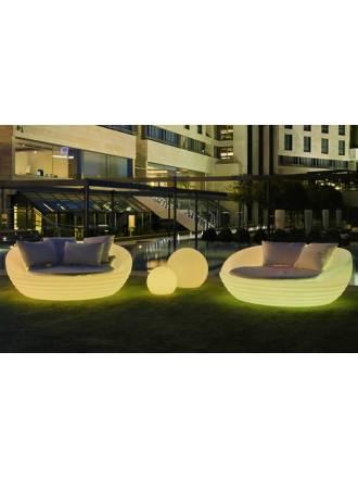 Sofá iluminado Formentera Solar LED RGB IP65 - Newgarden