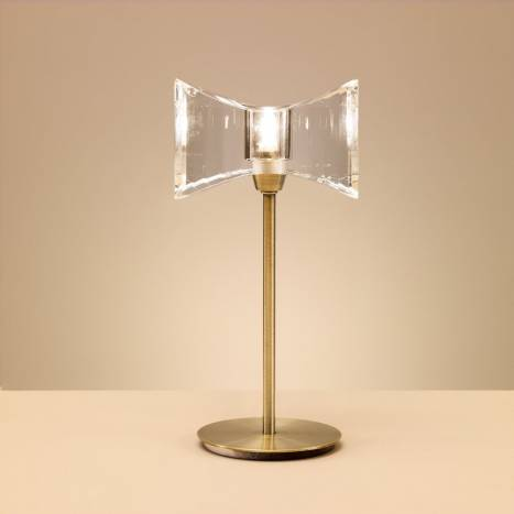 Mantra Krom large table lamp 1 light antique brass