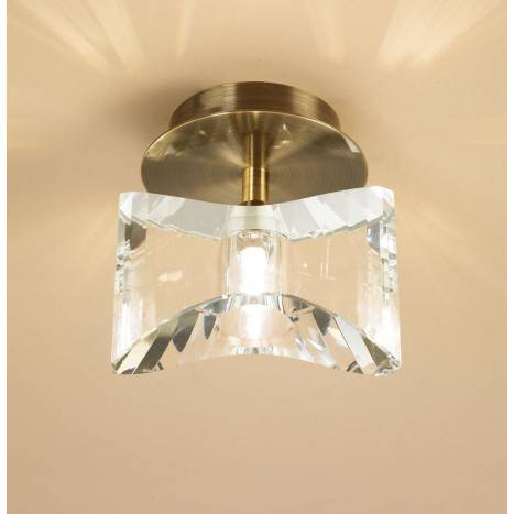 Mantra Krom ceiling lamp 1 light antique brass