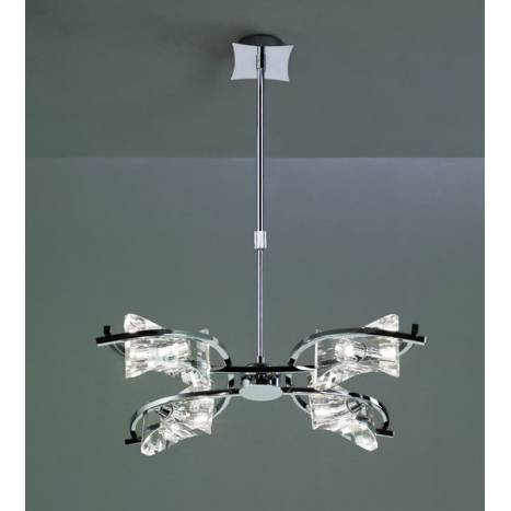 Mantra Krom pendant lamp 4 lights chrome