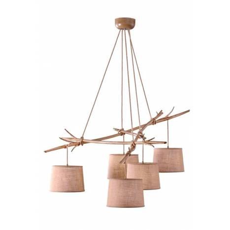 Lámpara colgante Sabina 5L metal decorado - Mantra