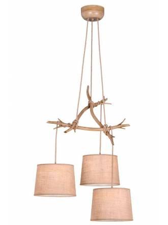 Lámpara colgante Sabina 3L metal decorado - Mantra