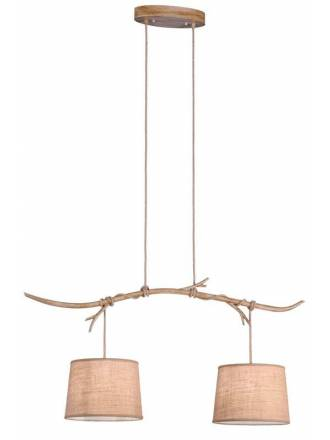 MANTRA Sabina 2L decorated metal pendant lamp