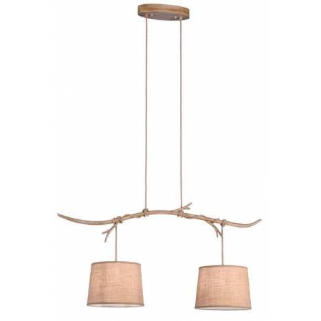 Lámpara colgante Sabina 2L metal decorado - Mantra