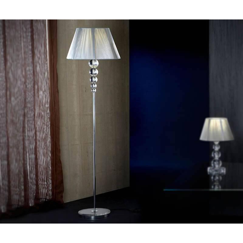Schuller Mercury floor lamp 1 light transparent