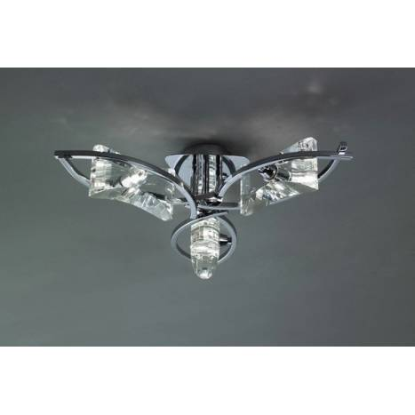 Mantra Krom ceiling lamp 3 lights chrome