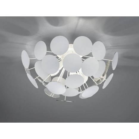 TRIO Discalgo ceiling lamp 3L white