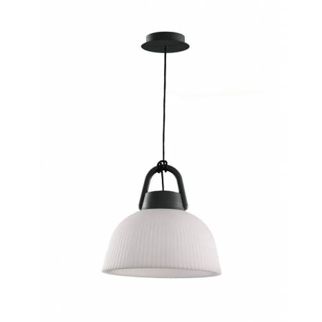 Lámpara colgante Kinke IP65 37cm antracita - Mantra
