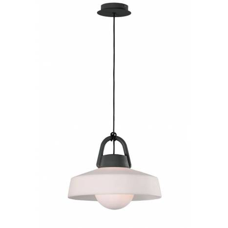 Lámpara colgante Kinke IP65 40cm antracita - Mantra