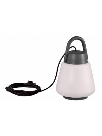 Lámpara portátil Kinke IP44 22cm antracita - Mantra