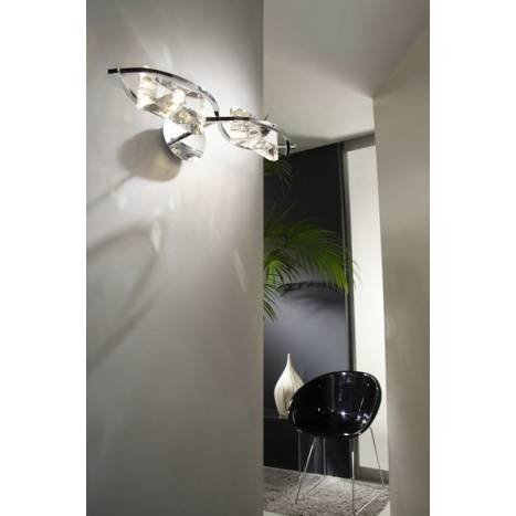 Aplique de pared Krom 2 luces cromo y cristal de Mantra