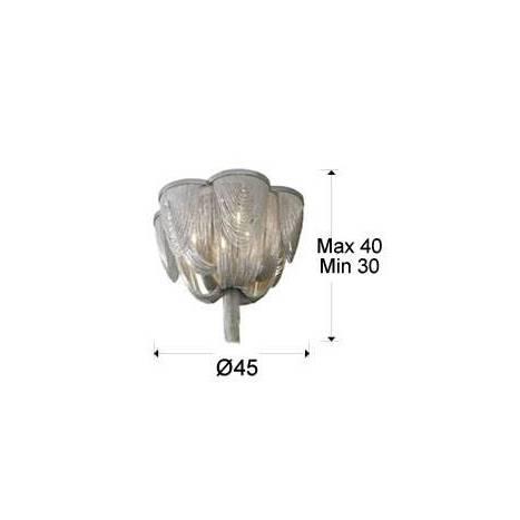 SCHULLER Minerva ceiling lamp 6 lights in cristal