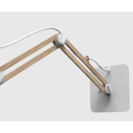 Mantra Looker wall lamp doble arm white wood