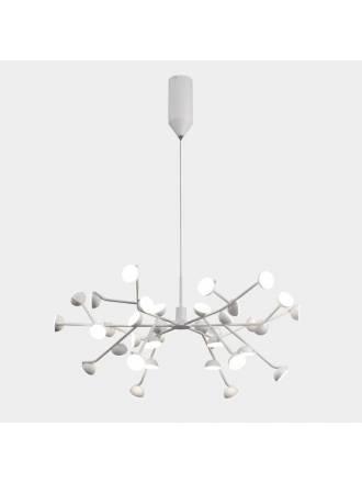 Lámpara colgante Adn LED 100w aluminio blanco - Mantra