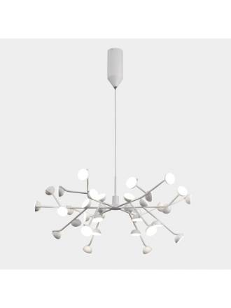 MANTRA Adn LED 100w white aluminium pendant lamp