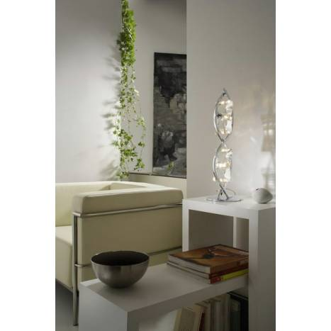 Mantra Krom table lamp 2 lights chrome