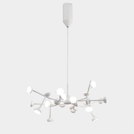 Lámpara colgante Adn LED 72w aluminio blanco - Mantra