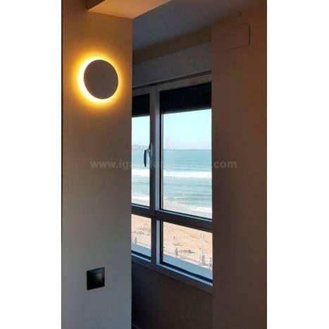 Aplique de pared Bora Bora LED redondo blanco de Mantra