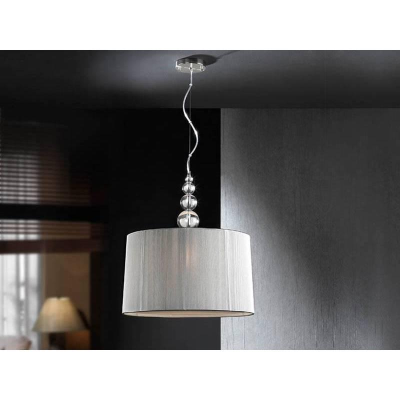Lámpara colgante Mercury transparente plata - Schuller