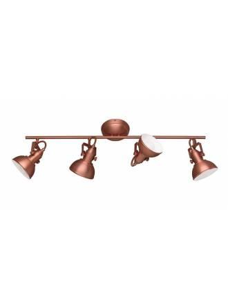 Regleta de focos Gina 4L E14 cobre - Trio