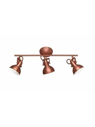 TRIO Gina 3L E14 surface spotlight copper