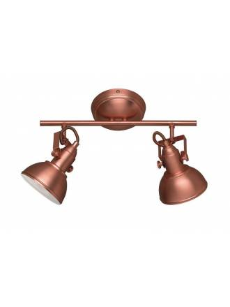 TRIO Gina 2L E14 surface spotlight copper