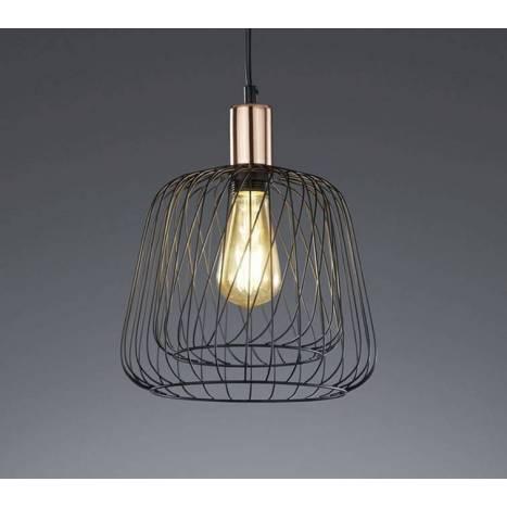 TRIO Sanna pendant lamp 1L black