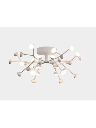 Lámpara de techo Adn LED 100w aluminio blanco - Mantra