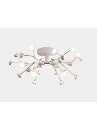 MANTRA Adn LED 100w white aluminium ceiling lamp