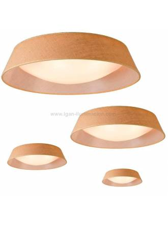 MANTRA Sabina E27 burlap shade ceiling lamp