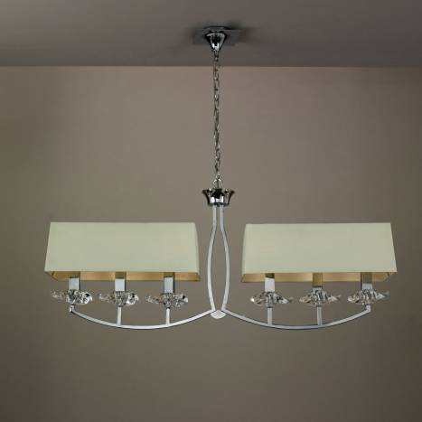 Mantra Akira ceiling lamp 6L cream shade