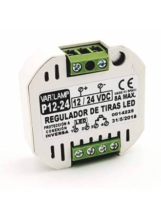 Regulador tiras LED 12-24VDC 8A - Varilamp