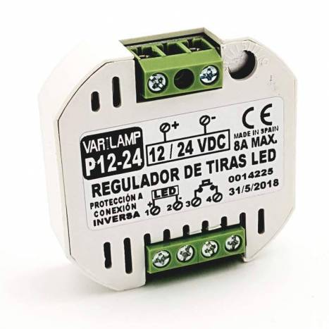 Regulador tiras LED 12-24VDC 8A - Varilamp