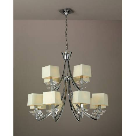 Mantra Akira ceiling lamp 12L cream shade