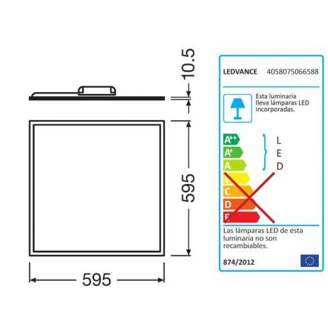 Panel LED Value 40w 60x60cm - Ledvance