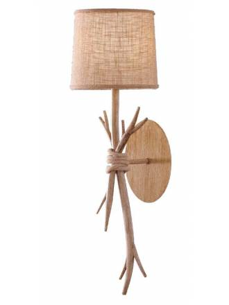 MANTRA Sabina E27 decorated wood wall lamp