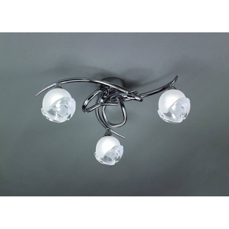 Mantra Bali ceiling lamp chrome 3L E14