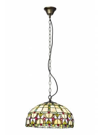 Lámpara colgante Vidriera Tiffany - Sulion