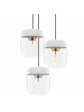 UMAGE Acorn white steel lamp