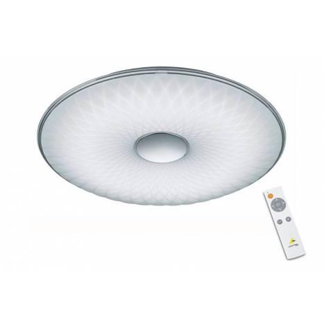 Plafón de techo Lotus LED regulable + mando - Trio