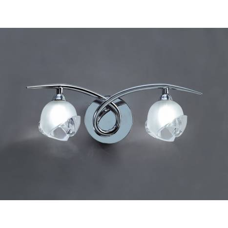 Aplique de pared Bali 2 luces cromo y cristal de Mantra